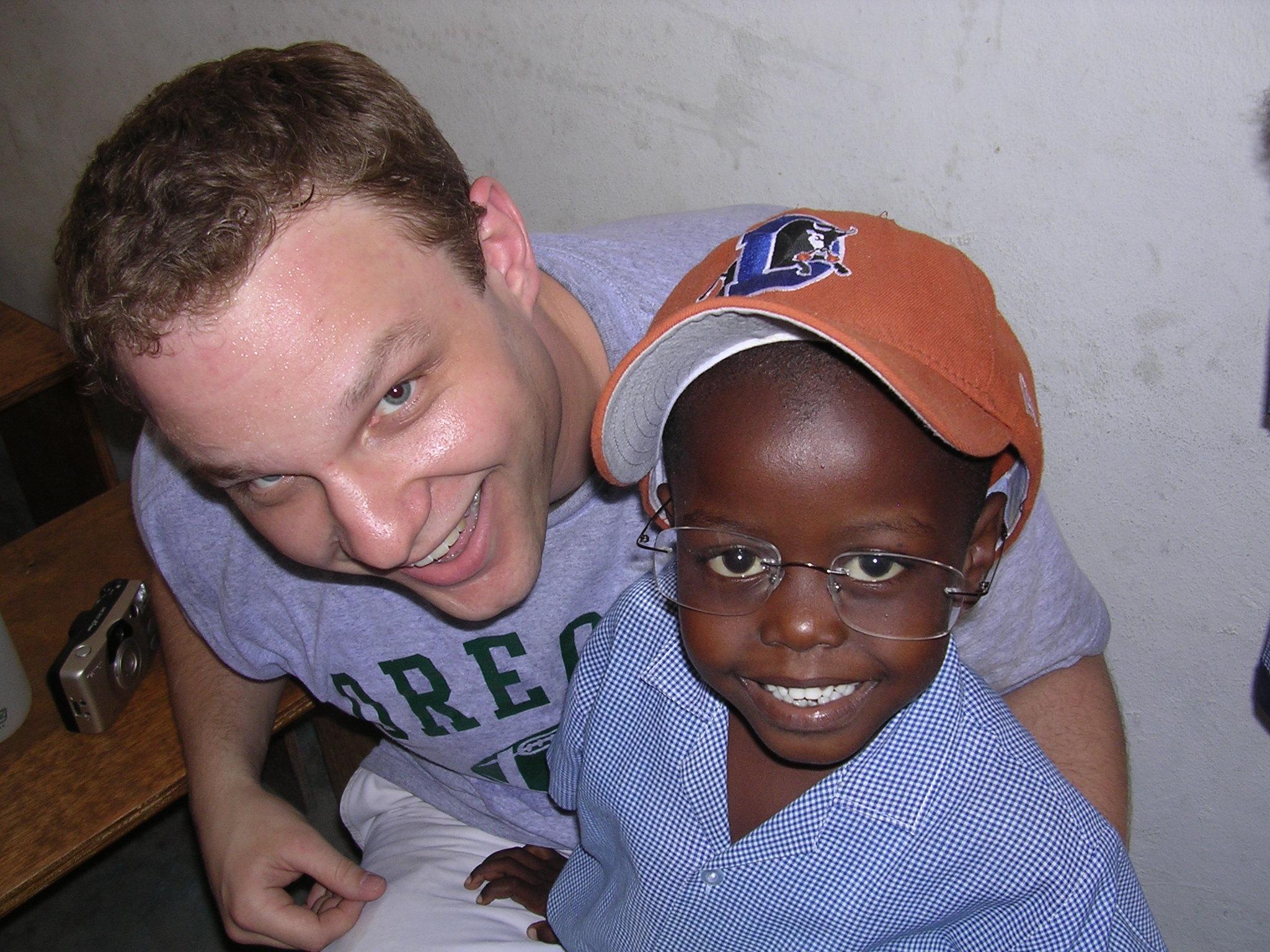 Haitian schoolboy